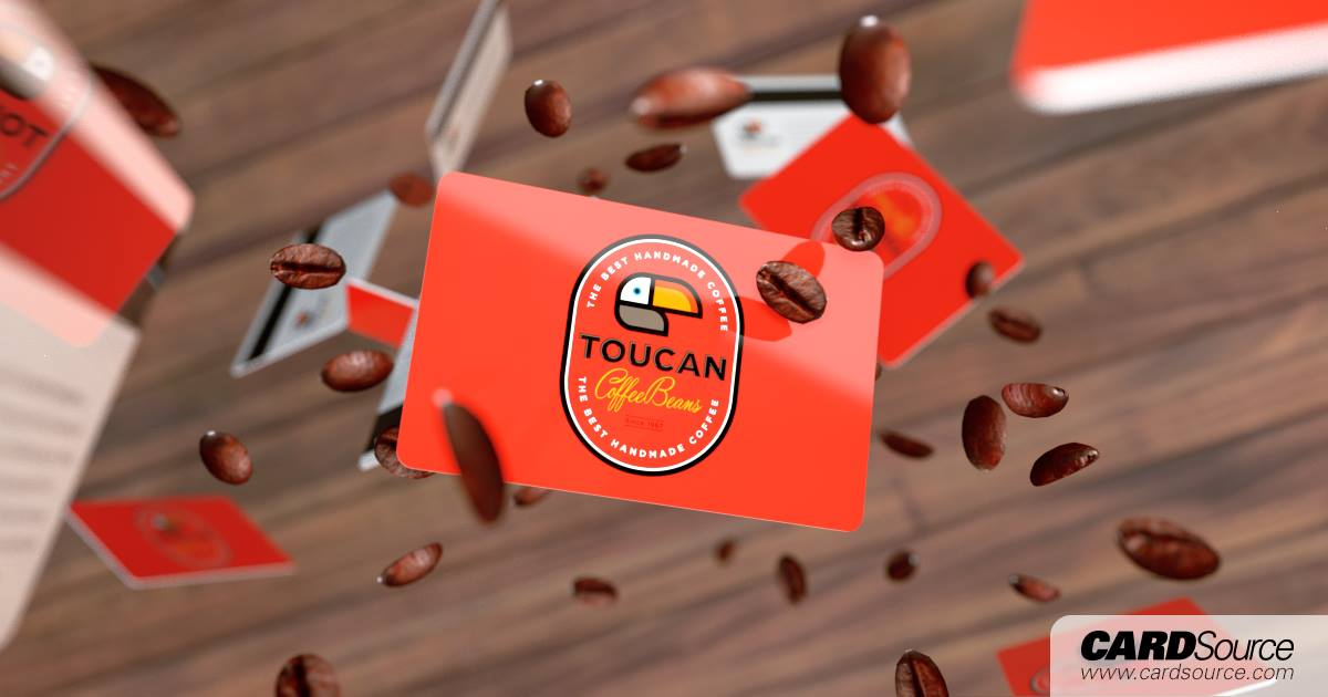 Toucan Coffee Bean Cardsource design