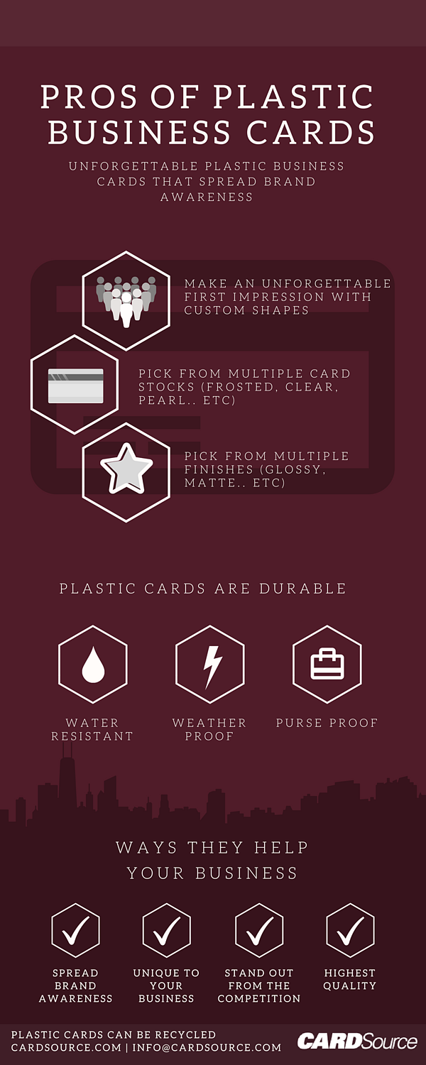 Pros of Plastic Business Cards Infographic
