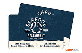 Business Card CR80: Seafood Restaurant by CARDSource