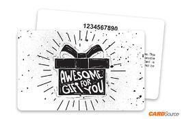 Awesome Gift Card with Numbering by CARDSource