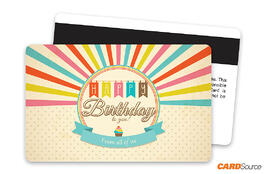 Birthday Burst Magnetic Stripe Gift Card by CARDSource