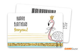 Flamingo Happy Birthday Barcode Gift Card by CARDSource