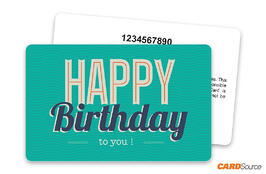 Happy Birthday Blue with Numbering Gift Card by CARDSource