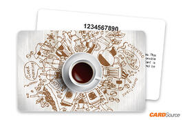Coffee Illustrations Gift Card with Numbering by CARDSource