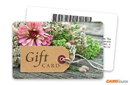 Gift Tag Floral Barcode Gift Card by CARDSource