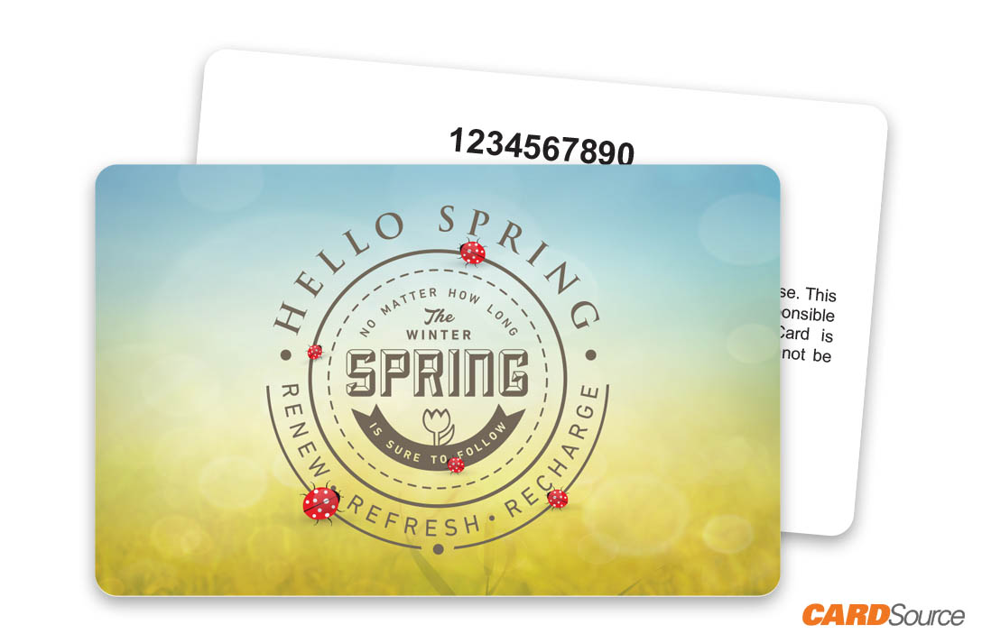 Hello Spring Gift Card with Numbering by CARDSource