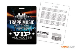 Event Badge TAG3401 Trapp Music by CARDSource