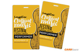 Event Badge TAG3501 Classical Music by CARDSource