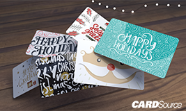 Multiple holiday gift cards, cardsource