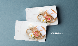 spa plastic gift card, cardsource