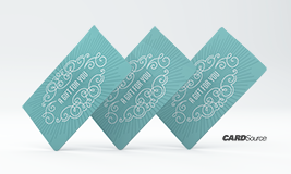 Blue swirl gift cards