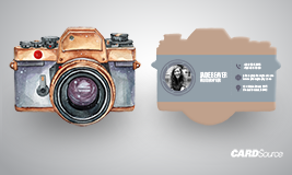Custom Shaped Photography Business Card, Camera Shaped Card