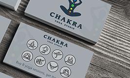 Chakra Yoga Studio punch card reward card