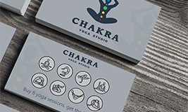 Chakra Yoga Studio punch card reward card