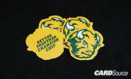 champ chip custom shape card example