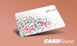 dot gift card design, CardSource