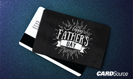 happy fathers day gift card design
