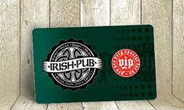 Irish pub membership card
