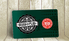 Irish pub membership card