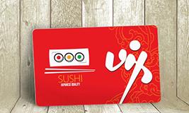 Sushi Membership Card