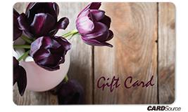 purple flower gift card design