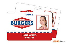 ID Badge CR80: Delicious Burgers by CARDSOurce