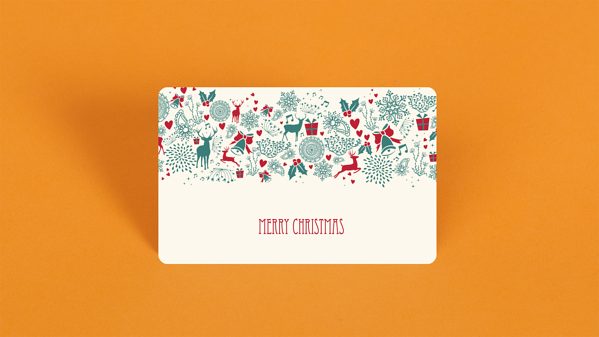 Merry Christmas Themed Gift Card