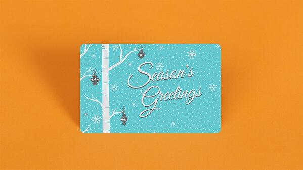 Season Greetings light blue