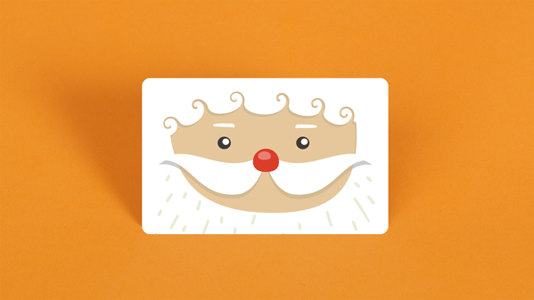 santa clause gift card design