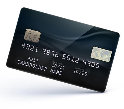 embossed credit card