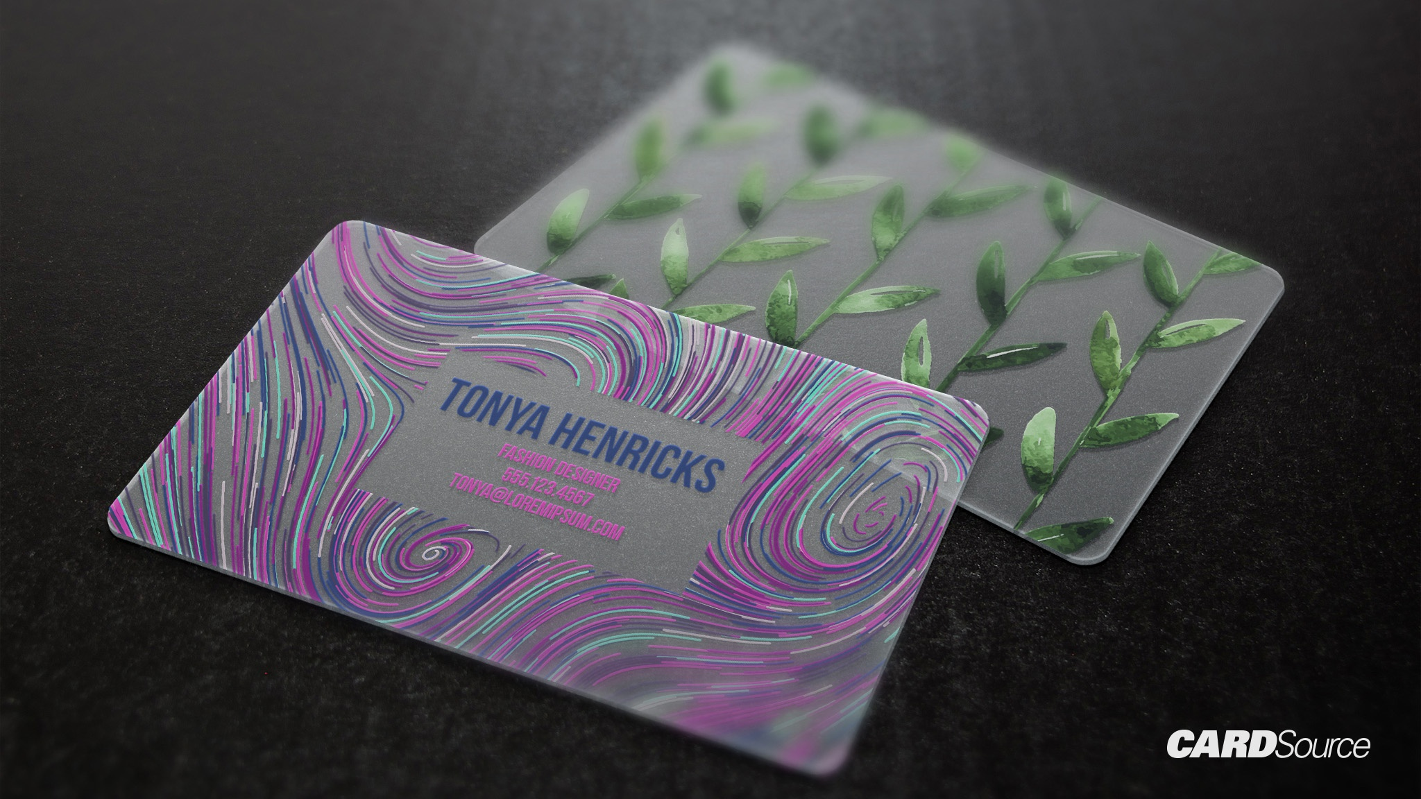 opaque/ frosted plastic business card design