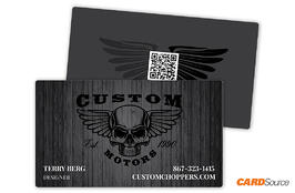 BC352 Dark-Woodgrain Business Cards by CARDSource