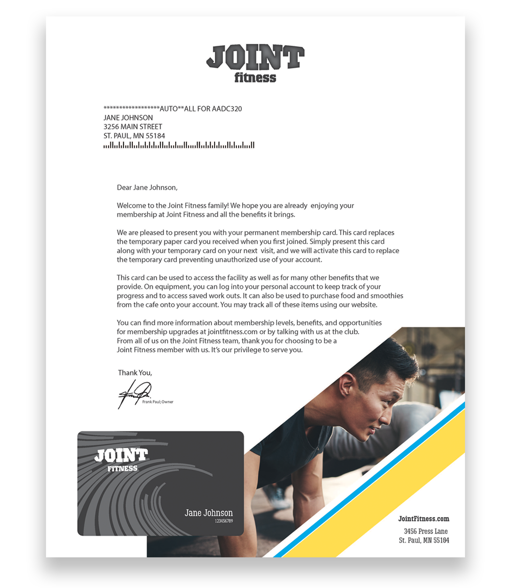 Joint fitness letter head